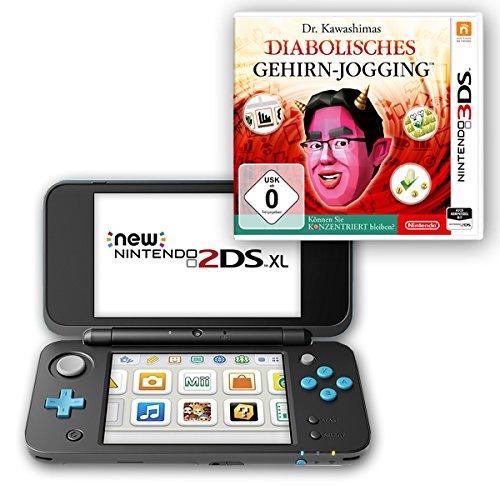 New Nintendo 2DS XL (Schwarz & Türkis) + Dr. Kawashimas Diabolisches Gehirn - Jogging - Können Sie konzentriert bleiben?