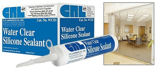 C.R. LAURENCE WCS1 CRL Water Clear Silicone Sealant - 10.3 Fluid Ounce Cartridge