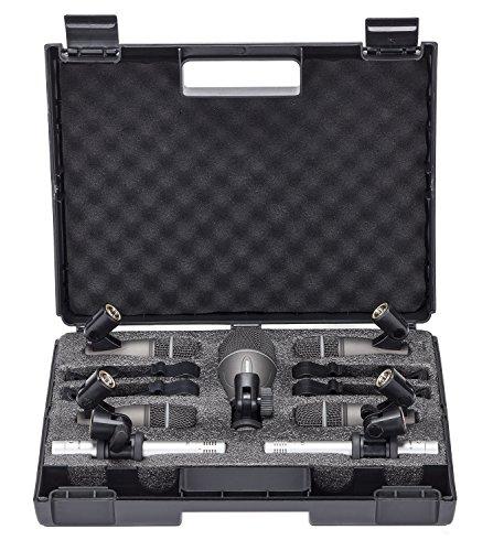 Samson DK707 7-Piece Drum Microphone Kit, Includes 4x Q72 Instrument Microphone, Q71 Kick Drum Microphone, 2x C02 Pencil Condenser Microphone