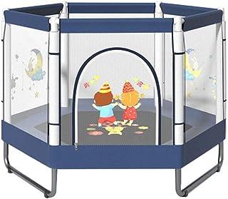 BIAOYU Studsmatta för barn med säkerhetsinhägnad nät mini trampolin för utomhus inomhus familj bakgård skolunderhållning, ...