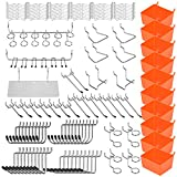 HORUSDY 142-Piece Pegboard Hooks Set, Pegboard Hooks Assortment for Organizing Various Too...