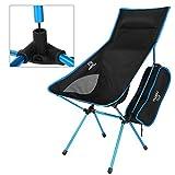 ICOCO Klappbarer Campingstuhl mit Tragetasche – kompakter, ultraleichter Faltbarer Strandstuhl – Tragbarer Hoch Belastbarer Outdoor Stuhl für Wandern, Camping, Strand, Angeln (120 kg Gewichtslimit)