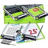 WORKDONE 4 Pezzi - Caddy per Disco Rigido da 2,5 Pollici per Server PowerEdge dell - R440 R640 R740 R740xd R840 R940 R6415 R7415 R7425 DXD9H di 14° Gen - Vassoio della Staffa Hot Swap SSD SAS NVMe
