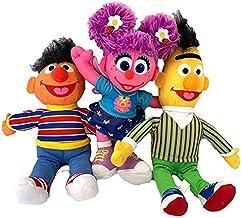 Sesame Plush Toy Set of 3 Bert Ernie and Abby