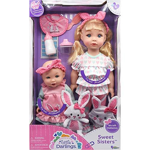 """Little Darlings Sweet Sisters, 18"""" Big Sister & 12"""" Baby Sister (8647l)"""