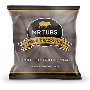 Mr Tubs Pork Crackling - Good Old Traditional - 20 x 28g Foil Bags:Amedama
