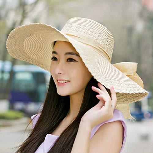 Sombreros Sombrero para El Sol Gorra Chicas Señoras Mujer Paja ...