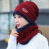 SHMAYU Warmer Wind und Wind im Freien Reithauben kalten Hut Winter Gesichtsmaske weibliche Modelle weinrot