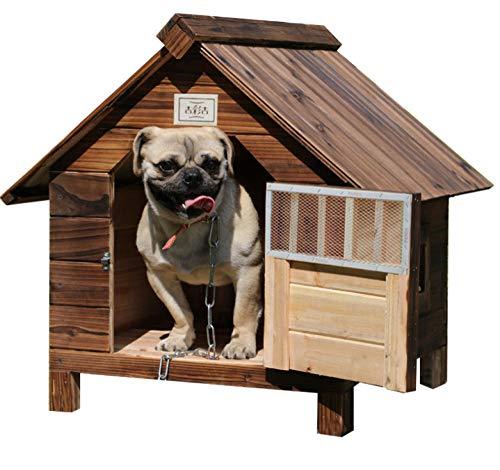 Massief houten katten- en hondenhok voor binnen en buiten, houten kennel voor vier seizoenen