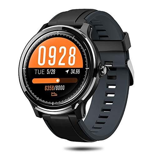 NACATIN Smartwatch Fitness Tracker Fitness Uhr Armbanduhr Sport Uhr IP68 wasserdichter 1,77 Zoll voller Touchscreen mit Kamerasteuerung Schrittzähler Schlaftracker für iOS Android-Handy (grau)