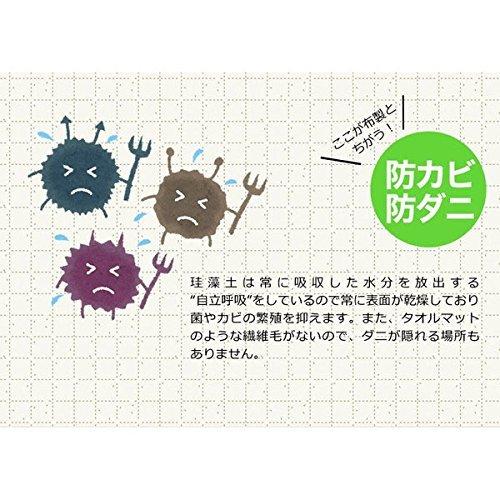 ヒロ・コーポレーション『珪藻土バスマットLサイズHZ-KBM-001』