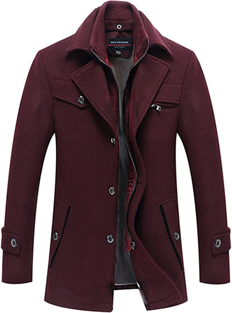 Men Jacket And Coat Wool Coat Casual Wool Trench Coat Fashion Business Thicken Winter Coat