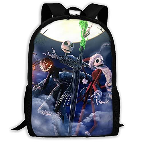 nightmare before christmas Jack Backpack Outdoor Backpack travel bag adjustable 3D Printing Backpack Gift-04