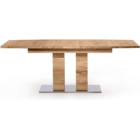 Amazon Brand Modesto Table Chêne sauvage huilé bianco 160/205 x 90 x 75 cm