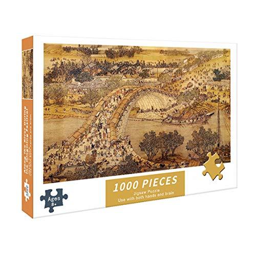 MOZX Puzzle 1000 Piezas Adultos, Rompecabezas Único para Adultos, Puzzle Adultos para Ejercitar La Lógica Y La Coordinación Sensorial,2