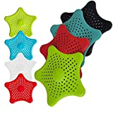 5 Package Random Color Starfish Hair Catcher Star Bathroom Drain Strainer Hair Catcher Bathtub Shower Drain Cover Hair Trap Hair Catcher Bathtub Drain Strainers Protectors Cover Filter For Kitchen