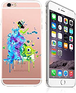 iPhone 6 /6S, DECO FAIRY Art Paint Splash Ultra Slim Translucent Silicone Clear Case Gel Cover (BFF monsters )
