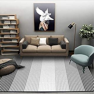 HJYL Tapis Nordique Moderne Abstrait Noir Blanc Géométrique Salon Chambre  Chambre Enfants Zone Du0027étude