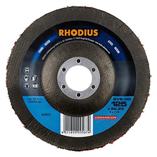 RHODIUS Reinigungsvliesscheiben SVS HD Made in Germany Ø 125 mm Grobreinigungsscheibe CSD Scheibe 3 Stück