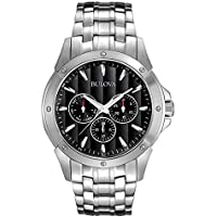 Bulova Classic 96C107 Men's Stainless Steel Black Textured Dial Watch