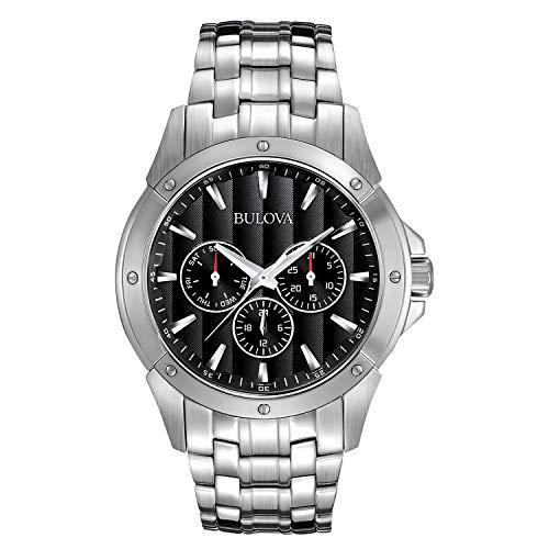 Bulova Relógio Masculino, Tom de prata, One Size