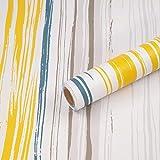 Papel Adhesivo para Muebles, 45 cm x 300 cm, tiras de colores, Impermeable, Papel Pintado Autoadhesiv, Vinilo Pegatina, mostrador de cocina decorados