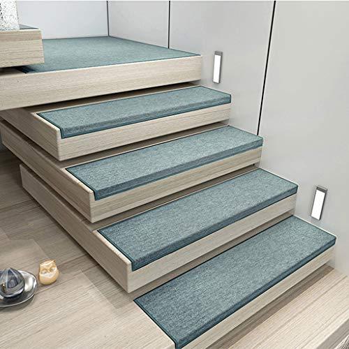 KY Stufenmatte Treppen - Teppich Treppenstufen Treppenmatte, 10 Große Treppe Schritt Teppich Nicht Beleg Adhesive Matte/Teppich for Treppenstufe, Anti Slip Treter/Non Slip (Color : D1)