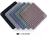 Mat for Hot Pots and Pans, Set of 5 Silicone Trivets, Kitchen Countertop Protector, Heat-Resistant Nonslip Washable Holder Mats, Dishwasher Safe, Jar Opener, Microwave Mitts, Flexible Durable Cover