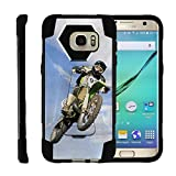 Compatible for Samsung Galaxy S7 Edge Case | G935 [Dynamic Shell] Dual Hard Hybrid Cover Resistant Kickstand Silicone Case Sports and Games Design by TurtleArmor - Motocross Bike