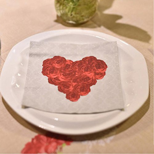 Liuyu Kitchen Home Serviette Nappe Mariage Restaurant Hôtel Bouche Chiffon Table Drapeau Tapis de Table Napperon 33 * 33cm 20 Feuilles / 1 Paquet (Couleur : B)