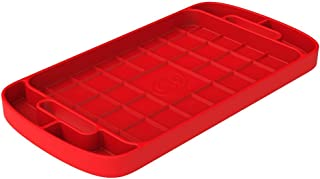 S&B Non-Slip Flexible Silicone Tool Tray | Tool Mat | Tool Organizer | Tool Holder (Large, Red, 80-1001L)