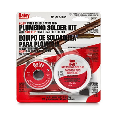 Oatay Plumbing Solder Kit, 1/4 lb solder and 1.7 oz flux