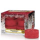Yankee Candle Bougies Chauffe-Plat Parfumées | Magie de Noël | Boîte de 12 Lumignons