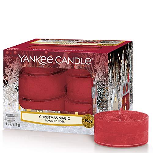 Yankee Candle candeline profumate tea light | Magia natalizia | 12 pezzi