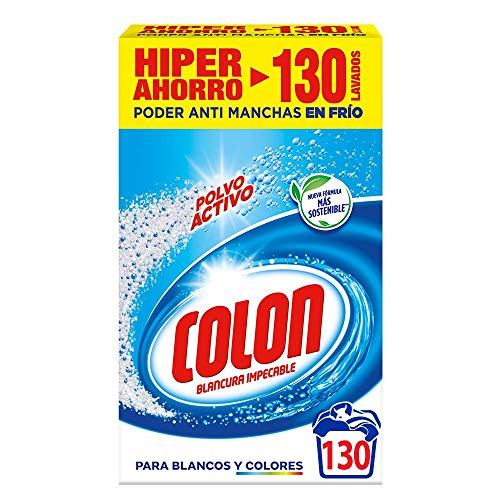 Colon Detergente De Ropa Para Lavadora Polvo Activo - 130 Lavados
