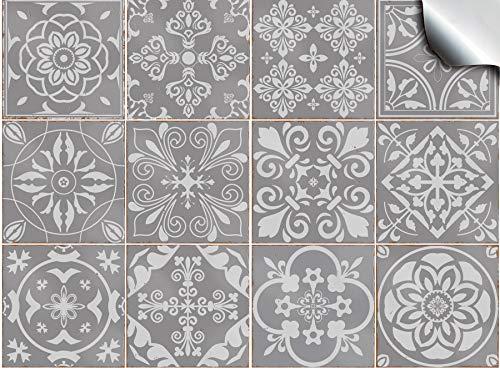 Top-Qualität, plastik, Slate Greys, 15 x 15 cm