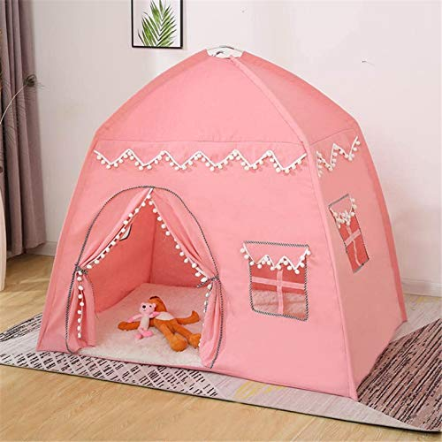 Thrivinger Princess Castle Play Tent, Kids Teepee Tent Large Children Playhouse, Kids Play Tent For Girls Boys, Children Fairy Tale Teepee, Portable Playhouse For Indoor And Outdoor Use