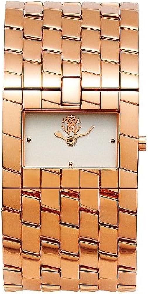 Roberto cavalli, orologio per donna,in acciaio inossidabile color oro rosa R7253182545