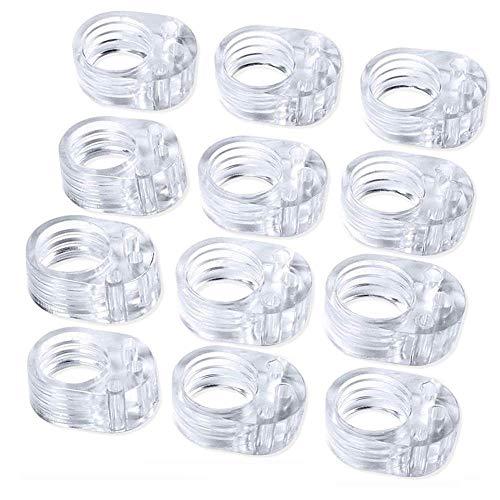 12 pcs PVC Topes de Puerta Silicona,topes para Manilla de Puerta de Silicona -Set de topes de Pared Transparentes -Ideales para Proteger la Integridad de Paredes,Muebles(Transparente)