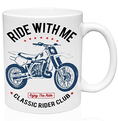 Yamaha yz490 ride with me 11oz Taza de café de cerámica de alta calidad