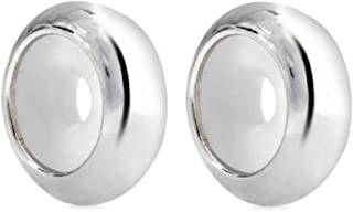 .Sold 925 Sterling Silver 2pcs Rubber Charm Stopper Spacer Bead for Charm Bracelets