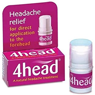 4 Head Headache and Migraine Relief Stick, 3.6 g, Pack of 6