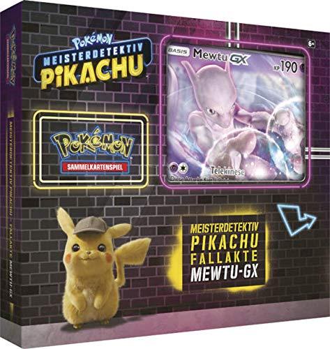 Lively Moments Pokemon Karten Meisterdetektiv Pikachu Fallakte Mewtu - GX Display DE Deutsch Promo Sammelkarten Spielkarten