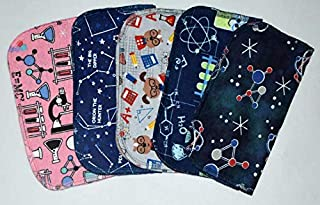 2 Ply World Of Science Flannel Washable Kids Lunchbox Napkins 8x8 inches 5 Pack - Little Wipes (R) Flannel