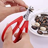 MAGPIE Seeds Shell Opener Crusher, Sunflower Seeds Plier Scissor Opener, Nutcracker, Small Nut Biscuit Opening Tool for Sunflower Seeds, Pistachios, Watermelon Seeds, Pine Nuts, Peanut Seeds, Etc