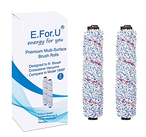 E.For.U accesorio de aspiradora 2 x Multiflächen-Bürstenrolle