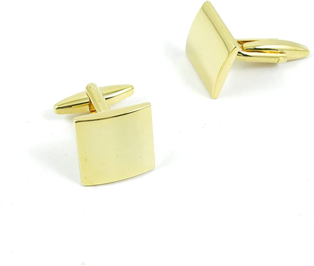 Cufflinks Cuff Links Fashion Mens Boys Jewelry Wedding Party Favors Gift 840VX0 Golden Square