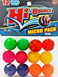 Bouncy Balls Superballs Super Hi Bounce (1 Pack of 12 Balls) Small Toys Party Favors for Kids Racketball Kids Prize by Ja-Ru Premium Giveaways Gift Toy Includes 1 Collectable Ball I Item #967-1p
