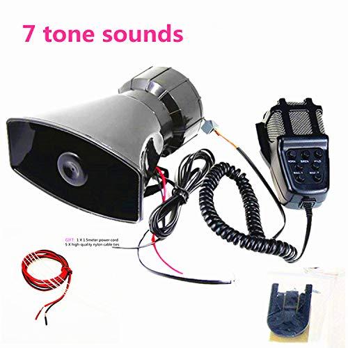 12 V 80 W 7 tone sonido car siren speaker siren suerno de alarma car siren vehicle with Mic PA speaker system emergency sound amplifier car electronic warning for cars vans trucks motorcycles ship