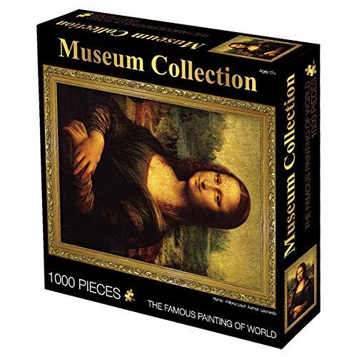 Rompecabezas Adultos 1000 Piezas Rompecabezas Mona Lisa, Regalos Creativos para Adultos, la Descompresión Puzzles, Regalos de Juguetes Educativos de Dibujos Animados,A,70 * 50CM